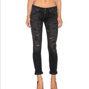 REVOLVE Agolde Chloe Distressed Slim Jeans